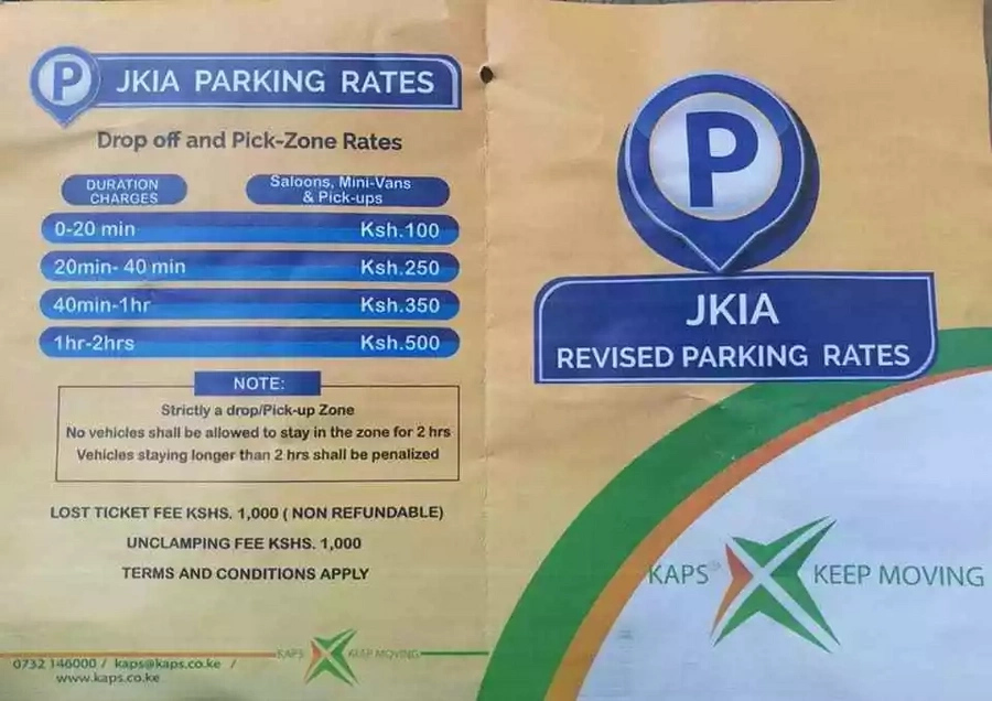 Outrage as government imposes hefty parking fee to motorists at Jomo Kenyatta International Airport