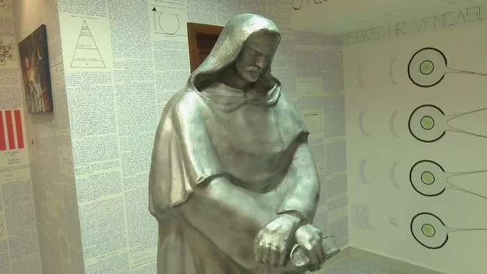 A man in Brazil leaves behind a locked room with 14 books of encrypted text and a $2500 statue after he left home to work on a 'secretive project'!