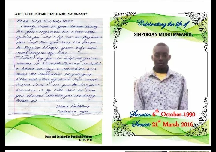 The emotional letter to God by motorcyclist killed by famous musician will melt your heart (photos)