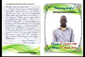 How the man killed by musician Jaguar wrote a SAD letter to God before his death