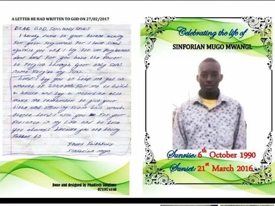 The emotional letter to God by boda-boda rider killed by Jaguar
