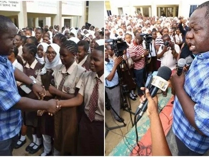 Matiang'i surprises high school girls with KSh 100,000 lunch