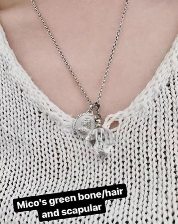 Iba ang pagmamahal! Janica Nam Floresca wears custom necklace with Franco's bone fragments and hair
