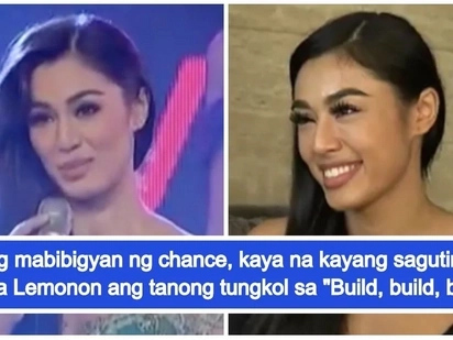 Nakapagreview na! Binibini Sandra Lemonon now has answer about 'Build, Build, Build'