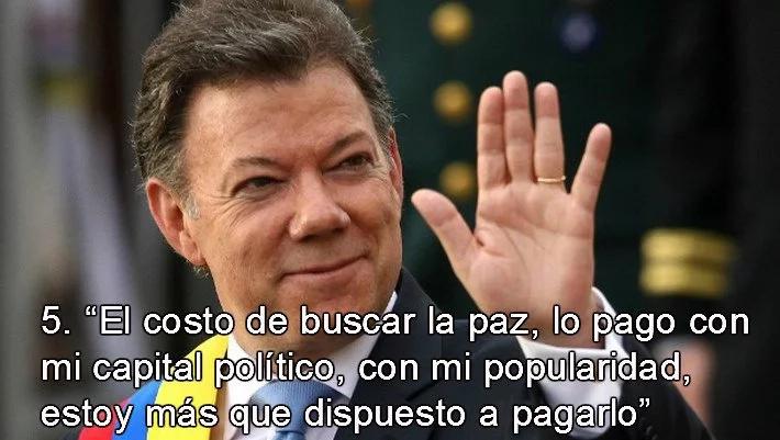 Juan Manuel Santos, Premio Nobel de la Paz 2016, en 10 frases