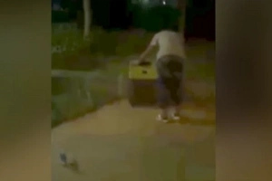 WATCH: Passers-by hear someone screaming in a suitcase; here's what they found when they opened it