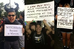 17 Hilarious Placards spotted at the Anti-Marcos burial rally