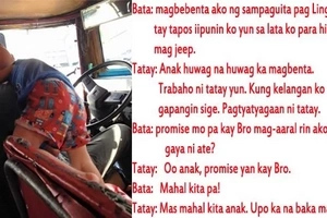 A simple conversation between this jeepney driver and his son changed this netizen's life