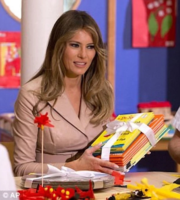 Melania Trump donated the books last week. Photo: AP