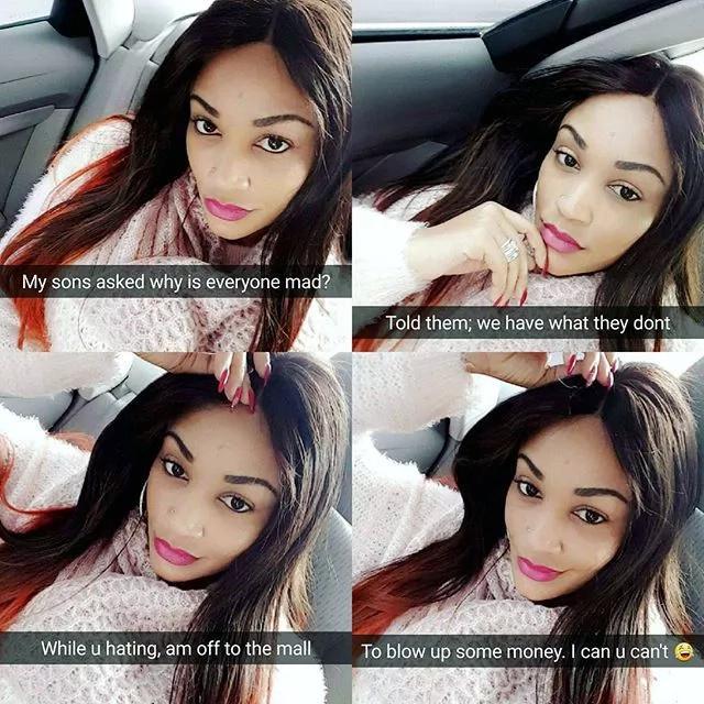 Tanzanian socialite, Zari Hassan insults her poor critics on social media