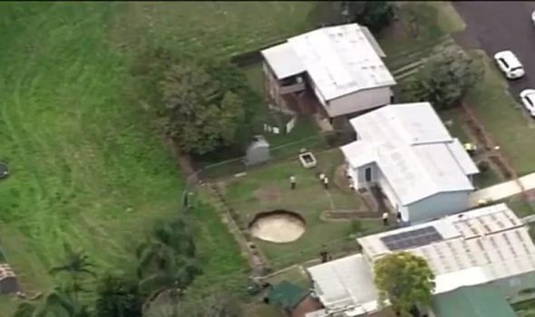 A giant sinkhole formed in the backyard of this elderly couple!