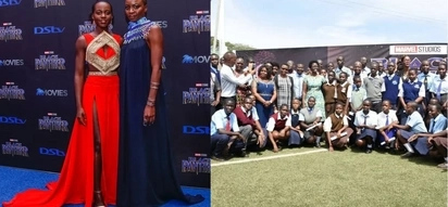 Hollywood star Lupita buys blackkpanther movie tickets for 600 Kisumu students