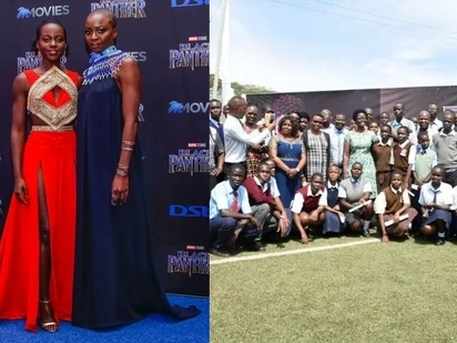Lupita keeps her promise, sponsors 600 Kisumu school children to watch black panther