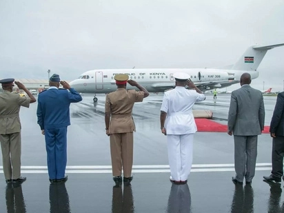 Uhuru flies out of the country days after landing from Cuba
