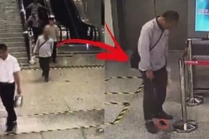 This man was spotted walking strangely in the subway. Turns out he had something to let loose inside of him!