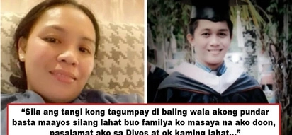 Di bale walang pundar, basta magkakasama pamilya! OFW mother gives up her own happiness to work abroad and provide for 5 children and sick husband