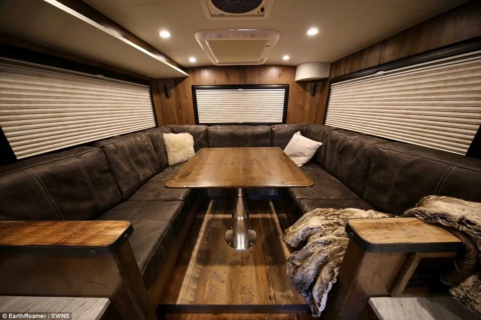 It comes with a spacious lounge. Photo: SWNS