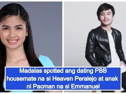 Binata na ang anak ni Pacman! Emmanuel Pacquiao Jr. allegedly dating former PBB housemate Heaven Peralejo