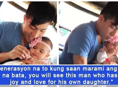May kagaya pa daw ba niya? A father earns praises from netizens for being sweet and caring to his little one