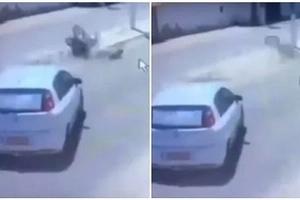Motociclista se salvó luego de chocarse contra un poste, pero no creerás que pasó después