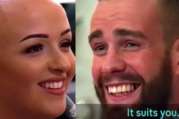 A Girl Takes Off Her Wig While On A Date, And Her Dating Partner's Reaction Is Priceless!