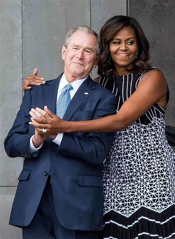 George Bush opens up about relationship with Michelle Obama and reveals the secret to their friendship