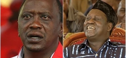 Raila TEARS into Uhuru's State of the Nation address