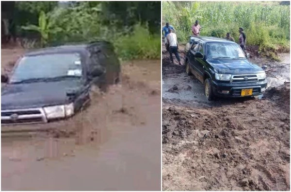 Man asks God to stop the rains so that his car won't be washed away, look what happened(video)