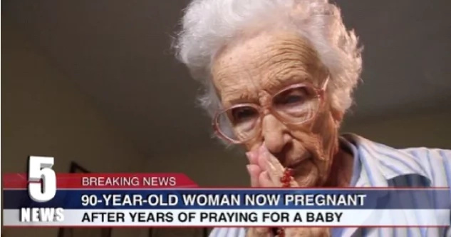 WATCH: 90-year-old woman conceives