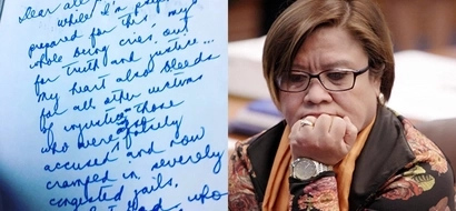 Senator Leila de Lima's handwritten letter to her loved ones after her arrest goes viral
