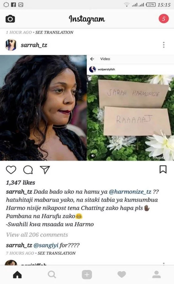 Diamond's label courts controversy yet again as Harmonize's white girlfriend tears into his ex girlfriend Wolper