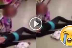 Heartbreaking video captures the moment a child is trying to wake her overdosed mother
