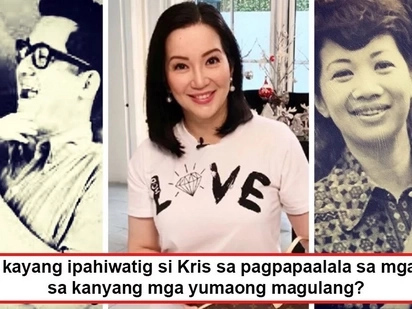 Kris Aquino sends out a strong message by posting photos of Ninoy and Cory Aquino - two known Philippine patriots