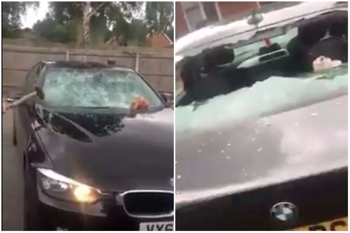 The wife smashed her husband's BMW. Photo: YouTube/Mr Paveeman Everyday Life Of Travellers And Gypsies