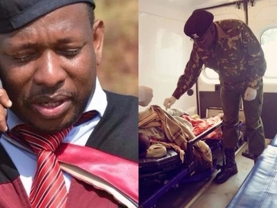 Mike Sonko sends touching message to police officer who saved seriously sick woman (photos)