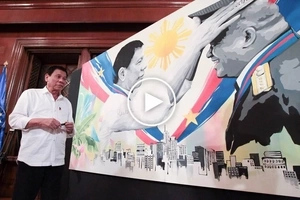 Duterte's die hard Japanese fan hands over stunning presidential portrait