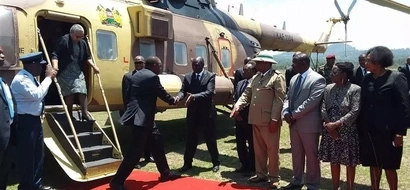 You will be shocked when see the number of choppers that were at Gachagua's burial (photos)
