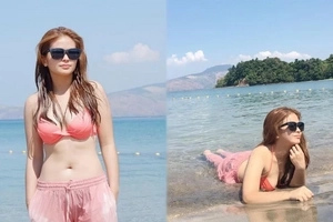 Bea Binene surprises netizens when she showcased her beach body in this two-piece swimsuit