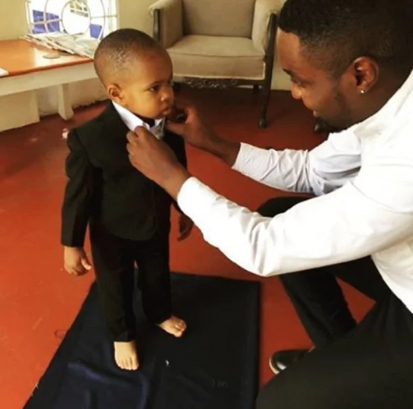 Janet Mbugua's adorable son STUNS in a suit