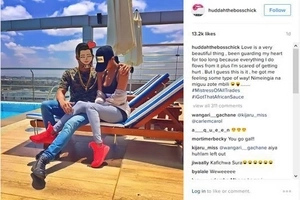 Exclusive photos of socialite Huddah Munroe's hot boyfriend