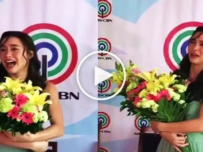 Emotional Yassi Pressman cries hard after signing exclusive contract with ABS-CBN