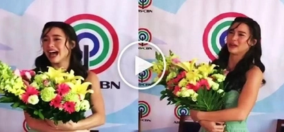Overwhelmed Yassi Pressman cries her heart out after signing exclusive contract with ABS-CBN