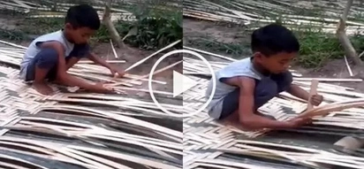 Grab your tissues! Inspiring video of a 7 year old kid weaving 'banig' goes viral