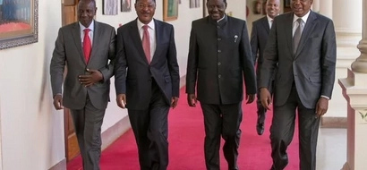 Video: See how DP William Ruto saluted Raila at State House