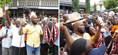 Hassan Joho crowned Kisii elder, given new tribal name (photos)