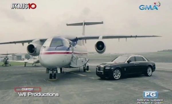 Private jet and a car #2