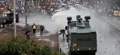 Human rights watchdog angered by how Kenyan police handled Raila's chaotic welcome home party