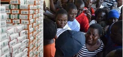 RIDICULOUS scenes in Kisumu as residents scramble for subsidised KSh 90 Unga (Photos)