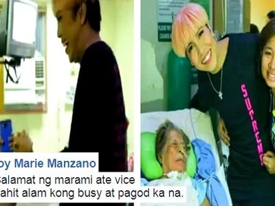 This lola with stage 4 cancer wished to meet Vice Ganda before she passes away. Her loved ones cried hard when the comedian granted their wish!
