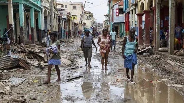 La aterradora imagen de una calavera en el Huracán Matthew
